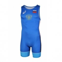 Трико борцовское ASICS WRESTLING SUIT - Blue