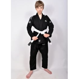Детское ги для БЖЖ Bad Boy Focus BJJ Gi с поясом - Black