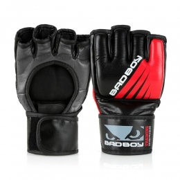 Перчатки ММА Bad Boy Training Series Impact No Thumb - Black/Red