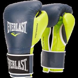 Перчатки боксерские Everlast PowerLock - Yellow/Blue