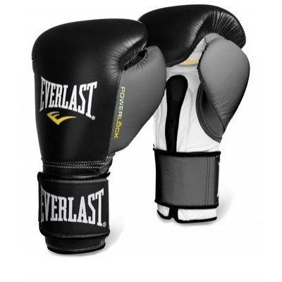 Перчатки боксерские Everlast PowerLock - Black/Grey