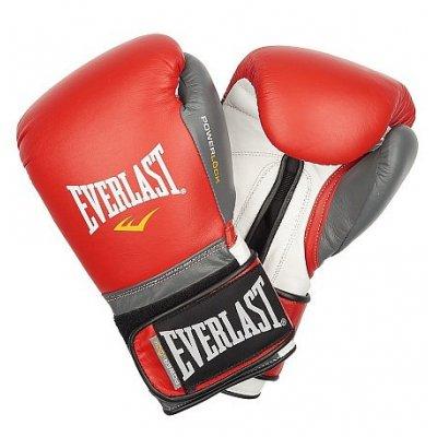 Перчатки боксерские Everlast PowerLock - Red/Grey