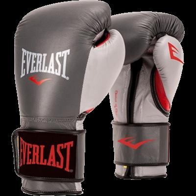 Перчатки боксерские Everlast PowerLock - Grey/Red
