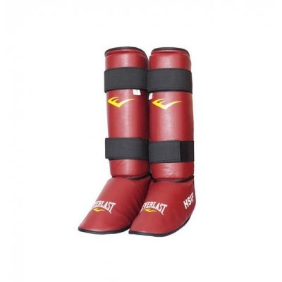 Защита голени и стопы для рукопашного боя Everlast - Red