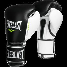 Перчатки боксерские Everlast PowerLock - Black/White