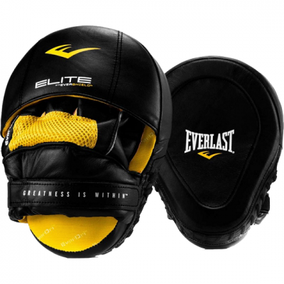 Лапы Everlast PRO Elite Leather - Black