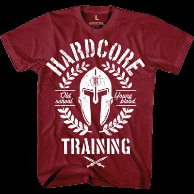 Футболка Hardcore Training Helmet Bordeaux - Red