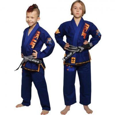 Детское ги для БЖЖ Jitsu Tiger - Blue