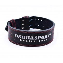 Пояс для пауэрлифтинга OnhillSport 100 (2 слоя. Кожа)