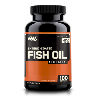 Омега 3 Optimum Nutrition Enteric-Coated Fish Oil 100 капс.
