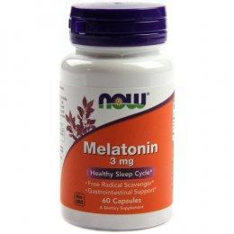 Now Foods Melatonin 3 мг. 60 капс.