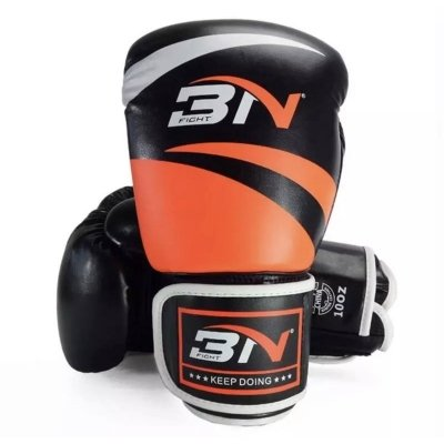 Перчатки боксерские BN Fight Classic - Black/Orange