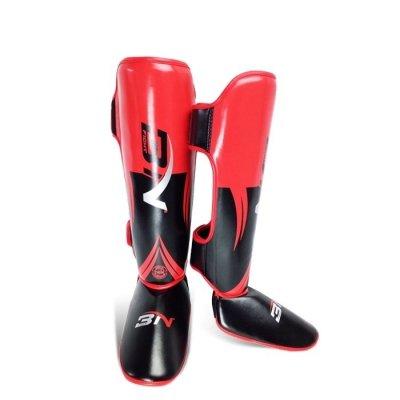 Защита голени BN Fight Shield Classic - Black/Red