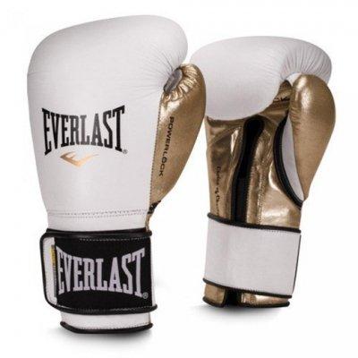 Перчатки боксерские Everlast PowerLock PU - White
