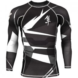 Рашгард Hayabusa Metaru L/S Black/White