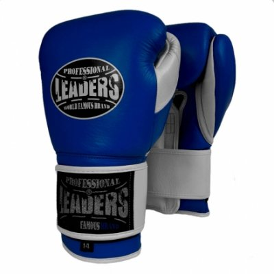 Перчатки боксерские LEADERS LeadSeries Blue/White