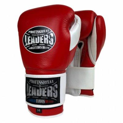 Перчатки боксерские LEADERS LeadSeries Red/White