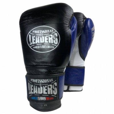 Перчатки боксерские LEADERS LiteSeries Black/Blue