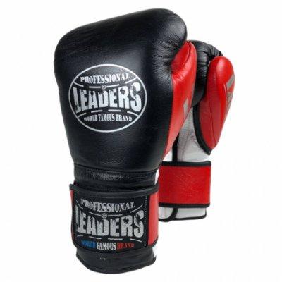 Перчатки боксерские LEADERS LiteSeries Black/Red