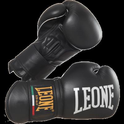 Перчатки боксерские Leone Black Tecnico